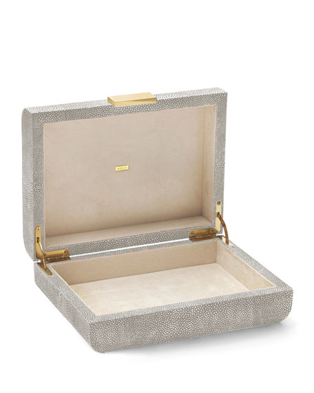 Small Mod Shagreen Jewelry Box