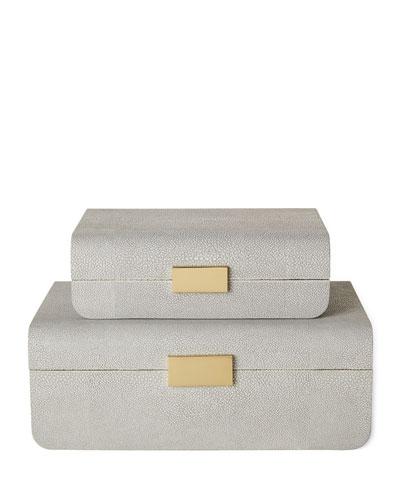 Small Mod Shagreen Jewelry Box