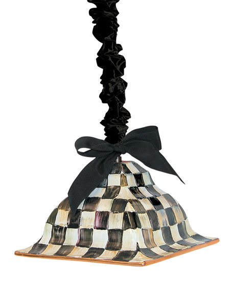 MacKenzie-Childs Courtly Check Square Hanging Lamp