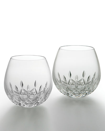 Lismore Nouveau Light Red Wine Glasses  Set of 2