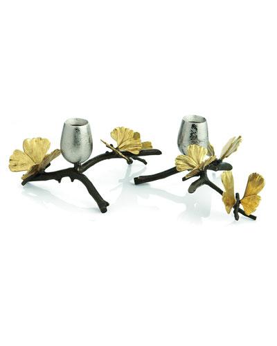 Butterfly Ginkgo Candleholders