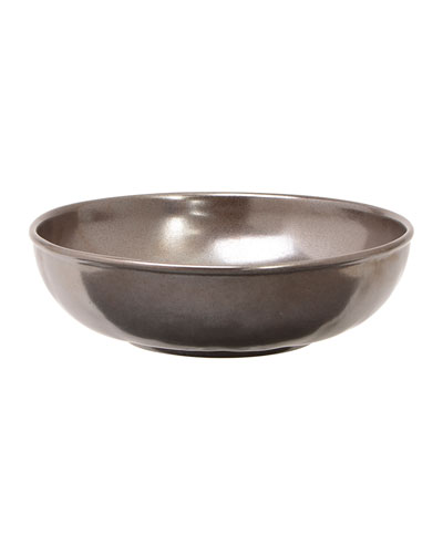 Pewter Stoneware Coupe Pasta/Soup Bowl