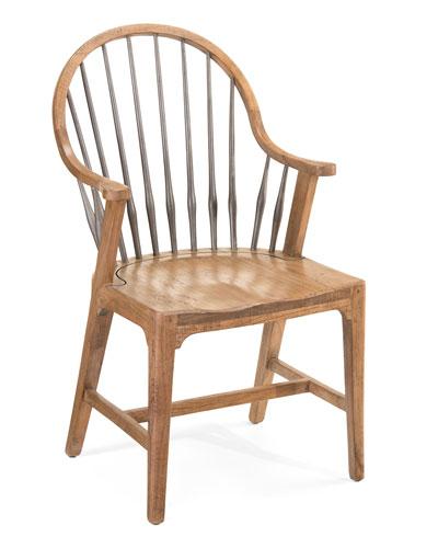 Rustic Armchairs, Pair