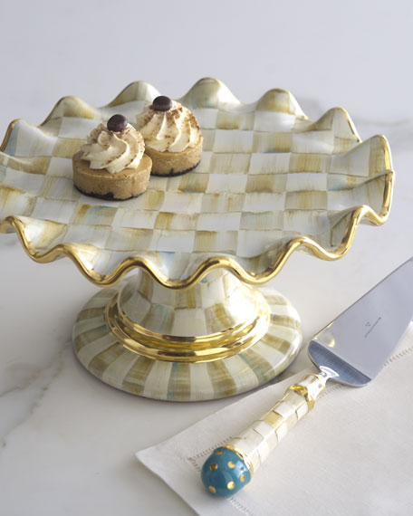 Parchment Check Dessert Stand