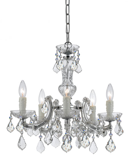 Crystorama Maria Theresa 5-Light Chrome Mini Chandelier