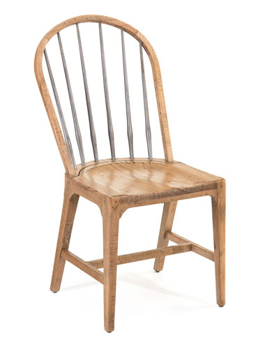 Rustic Side Chairs, Pair