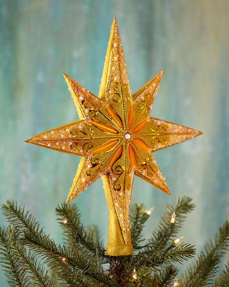 Golden Radiance Christmas Tree Topper