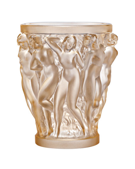 Bacchantes Small Gold-Luster Vase
