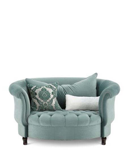 Harlow Sage Cuddle Chair