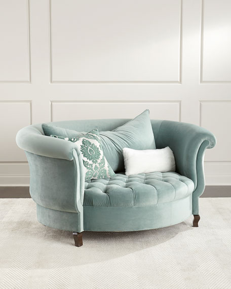 Great Haute House Harlow Sage Cuddle Chair