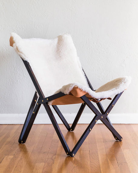 Dollie Noir Ivory Sheepskin Chair