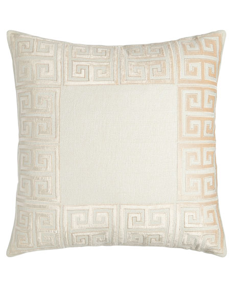 Guy Basketweave Pillow with Velvet Applique
