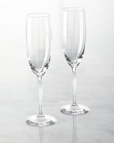 100 Points Champagne Flutes  Set of 2