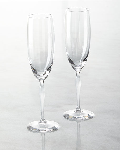 Lalique 100 Points Champagne Flutes, Set of 2