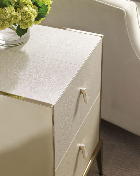 Davis Faux-Shagreen Side Table