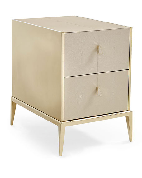 Delicieux Davis Faux Shagreen Side Table