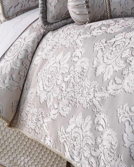 Queen Vasari Damask Duvet Cover