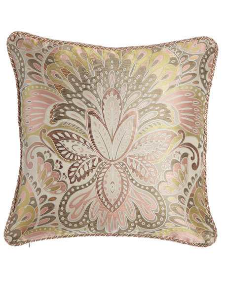 Square Harmony Pillow with Cord Trim