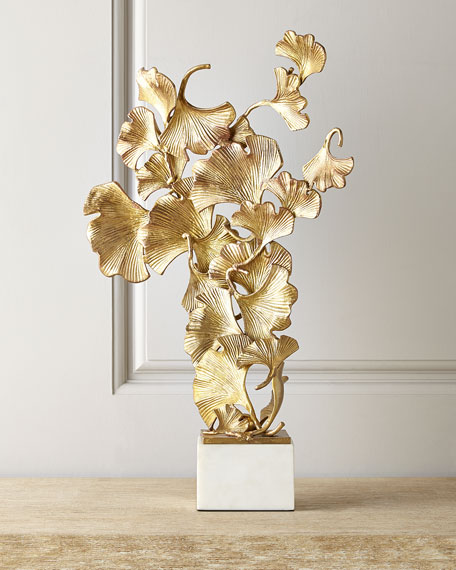 Floating Ginkgo Leaves Sculpture