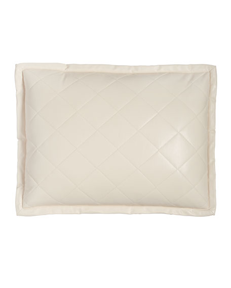 "Faux-Leather Pillow, 18"" x 22"""