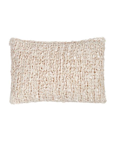 """Ribbon-Knit Pillow, 14"""" x 20"""""""