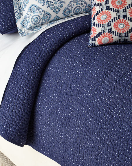Twin 2-Piece Dyed Indigo Voile Coverlet Set