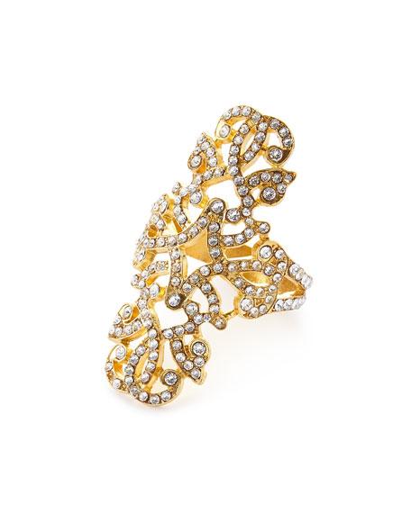 Swarovski® Crystal Engagement Napkin Ring, Set of Four, Gold