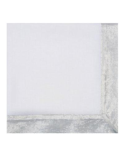 Shimmer Border Linen Napkin  Silver