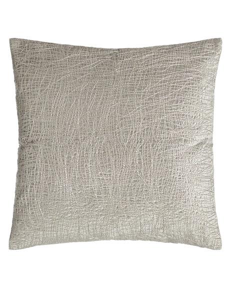"""Metallic Embroidered Velvet Pillow, 18""""Sq."""