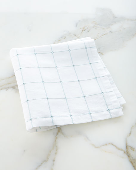 Eyelet Windowpane Napkin
