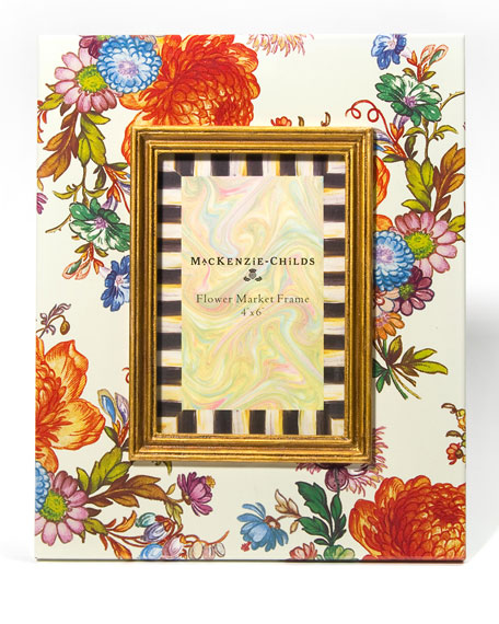 "Flower Market Picture Frame, 4"" x 6"""