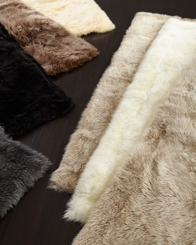 Sheepskin Rectangle Rug  4' x 6'