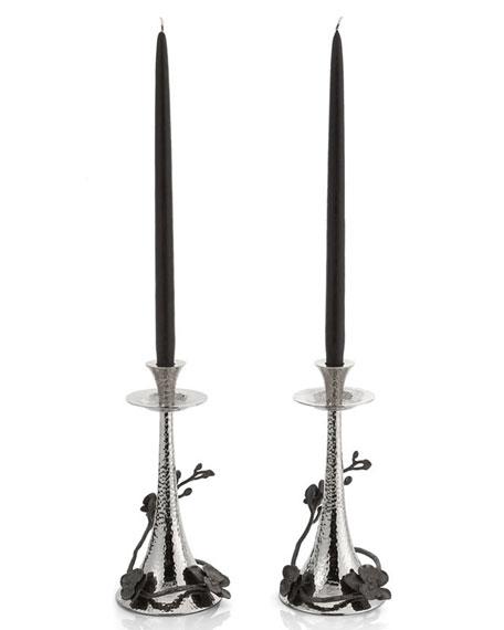 Michael Aram Black Orchid Candleholders, Set of 2