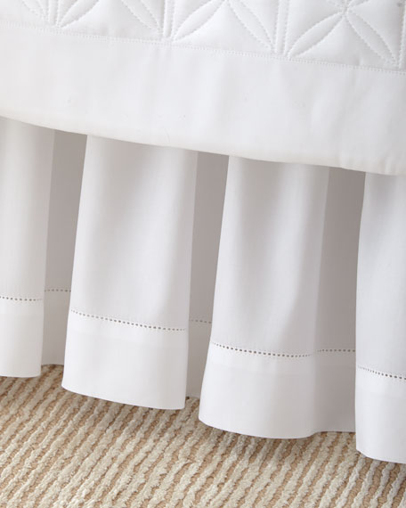 Queen White Sateen Dust Skirt