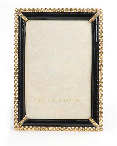 Black Lorraine Stone-Edge 4 x 6 Picture Frame