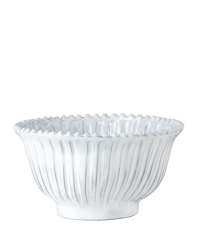 Incanto White Stripe Small Serving Bowl