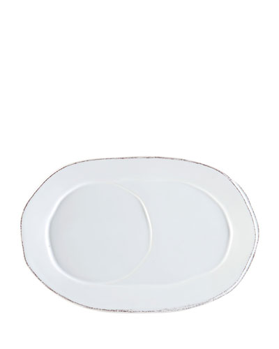 Lastre White Oval Tray