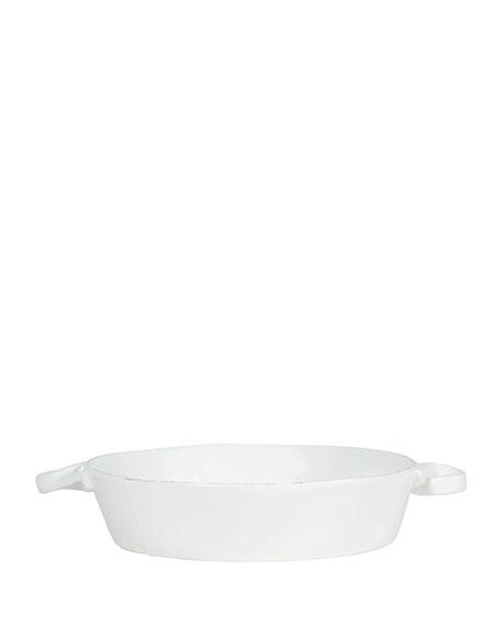 Lastra White Handled Round Baker