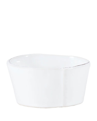 Lastra White Condiment Bowl