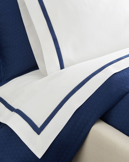 Two Standard Oxford Border Pillowcases
