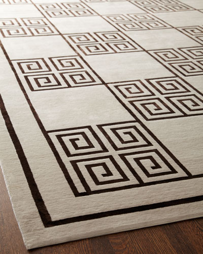 Greek Key Rug  9 x 12