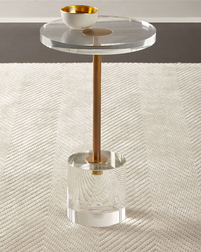 Brass and Acrylic Martini Side Table