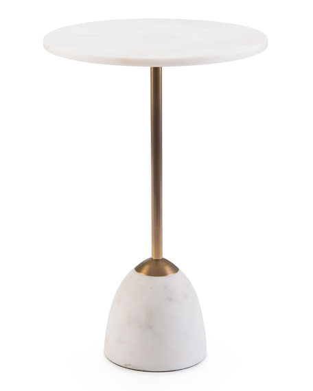 Zeke Marble Martini Side Table