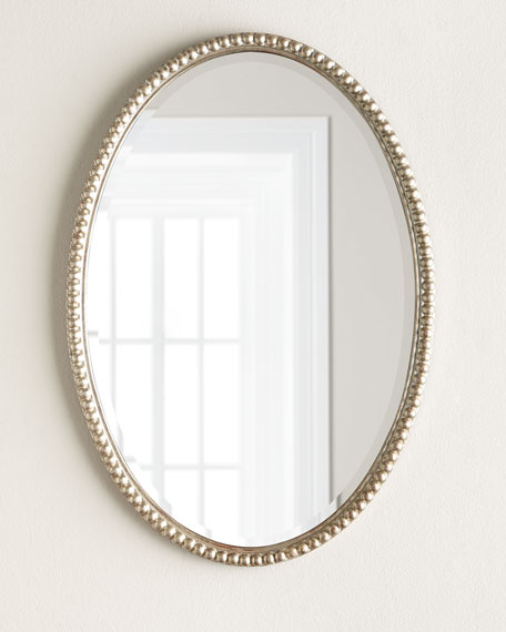 Oval-Frame Wall Mirror