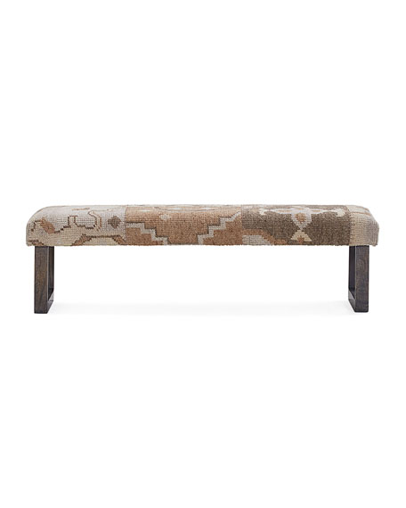 Interlude Home Bernette Kilim Bench