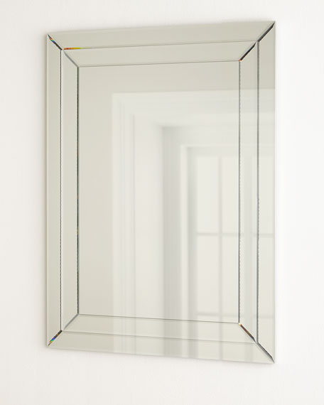 Etched Rectangular Mirror