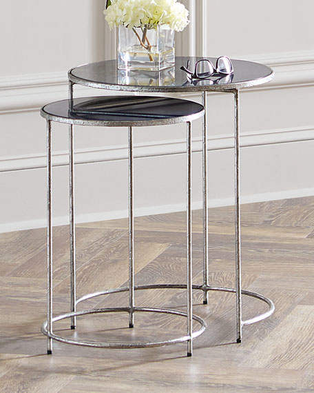Interlude Home Cyder Round Nesting Tables, Set of