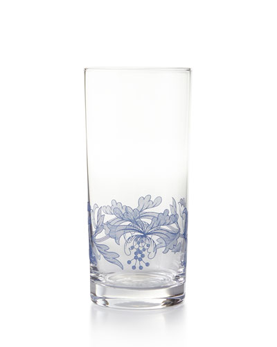 Blue Italian Highballs  Set of 4