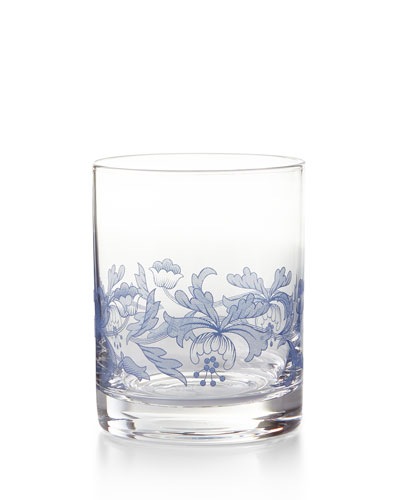 Blue Italian Double Old-Fashioneds, Set of 4