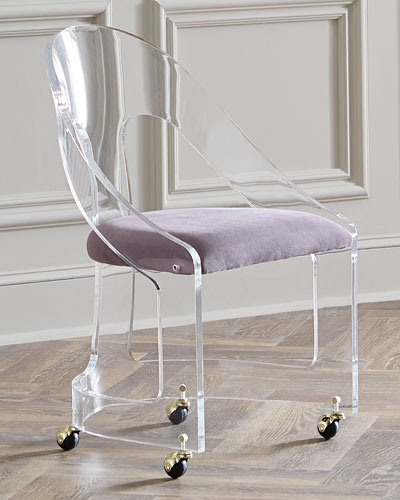 Mabel Brass-Trimmed Acrylic Chair